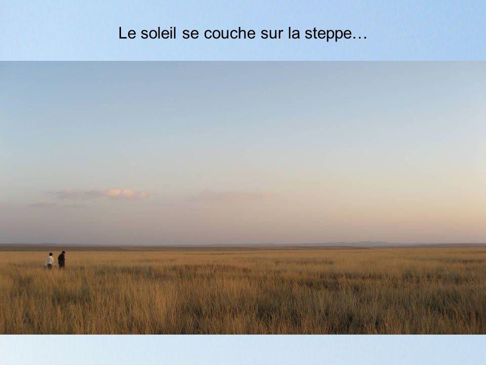 Le soleil se couche sur la steppe…