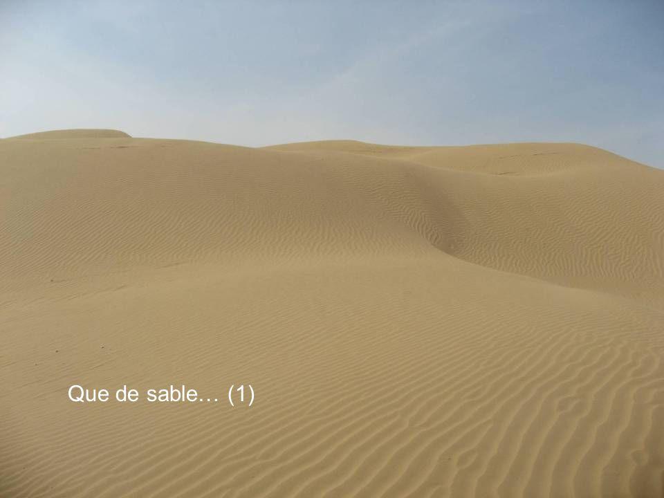 Que de sable… (1)