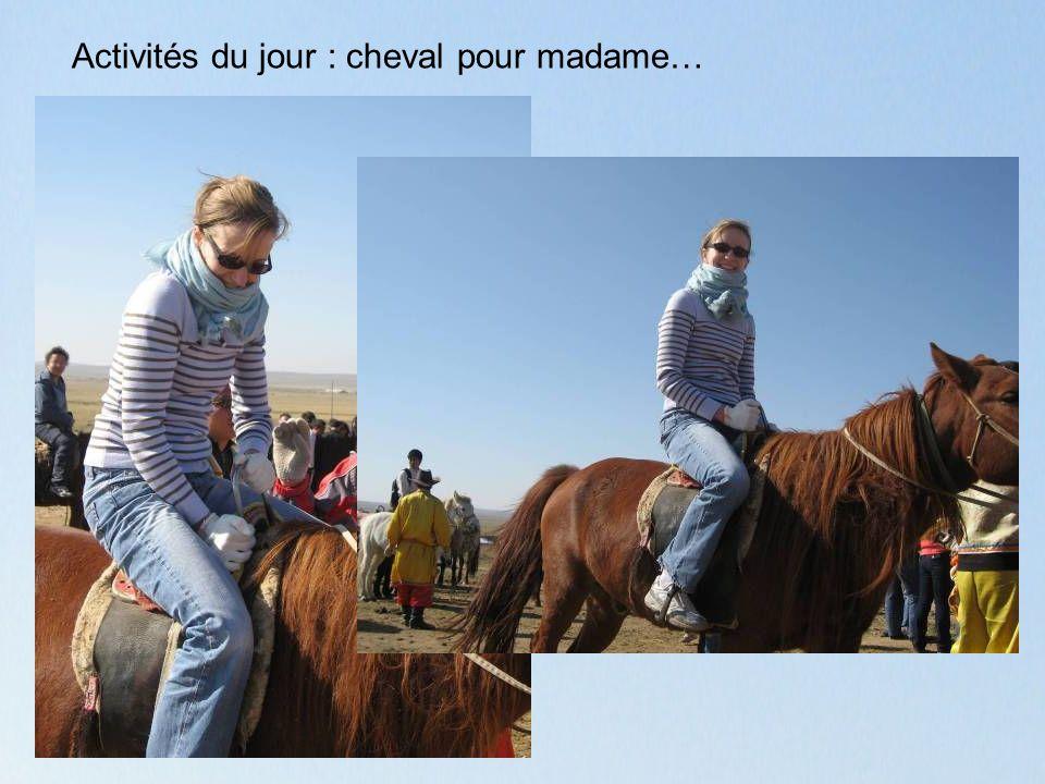 Activités du jour : cheval pour madame…