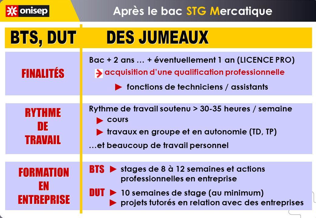 Bac + 2 ans … + éventuellement 1 an (LICENCE PRO) acquisition dune qualification professionnelle fonctions de techniciens / assistants stages de 8 à 1