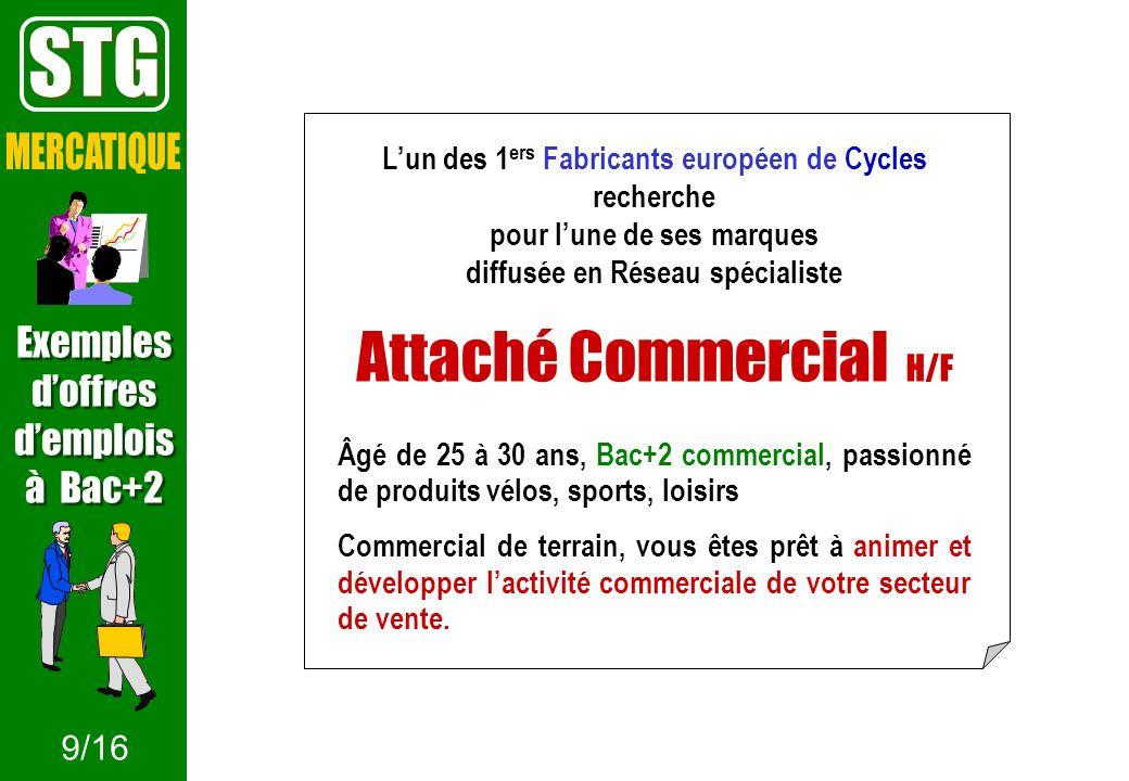 Lun des 1 ers Fabricants européen de Cycles recherche pour lune de ses marques diffusée en Réseau spécialiste Attaché Commercial H/F Âgé de 25 à 30 an