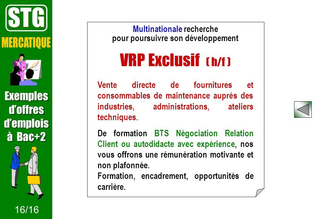 Multinationale recherche pour poursuivre son développement VRP Exclusif ( h/f ) Vente directe de fournitures et consommables de maintenance auprès des