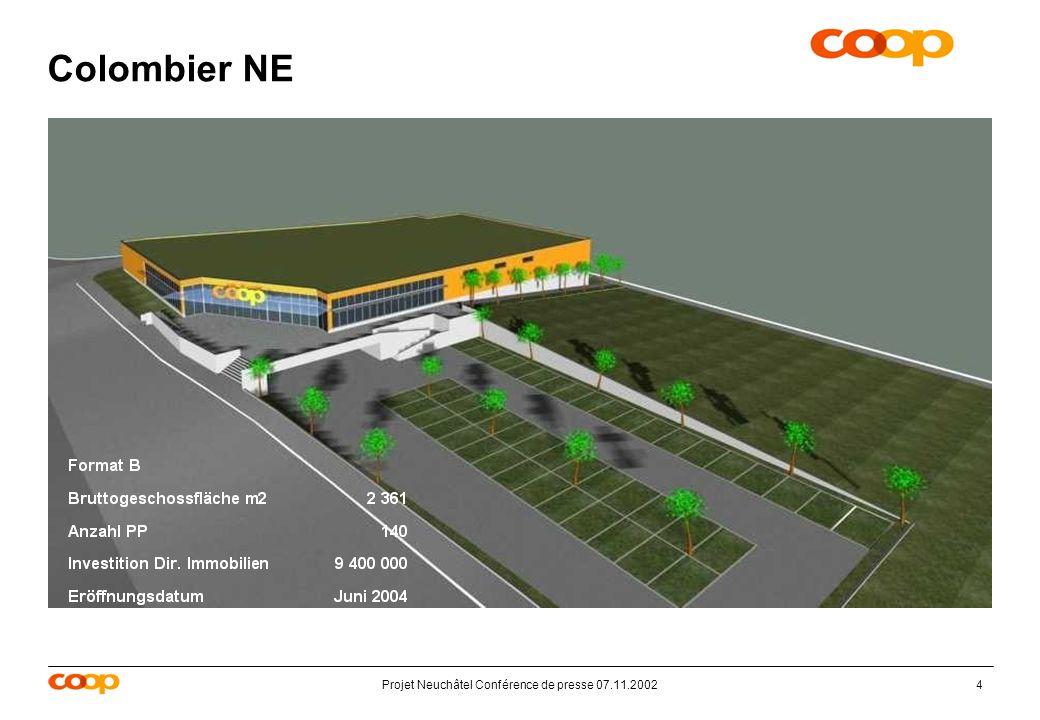 Projet Neuchâtel Conférence de presse 07.11.20024 Colombier NE