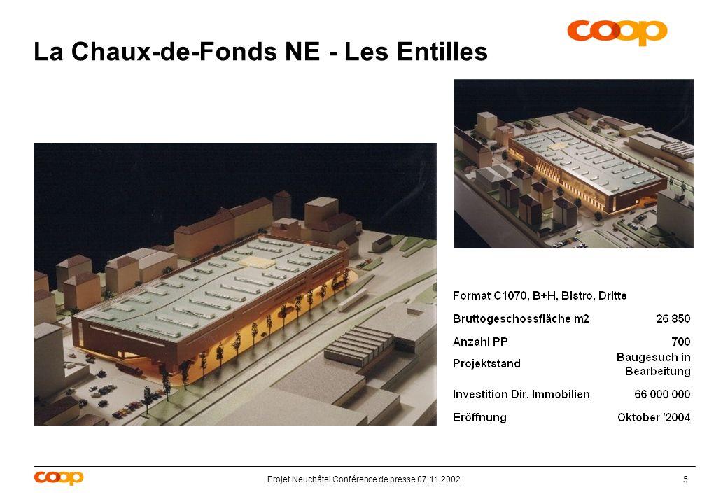 Projet Neuchâtel Conférence de presse 07.11.20025 La Chaux-de-Fonds NE - Les Entilles