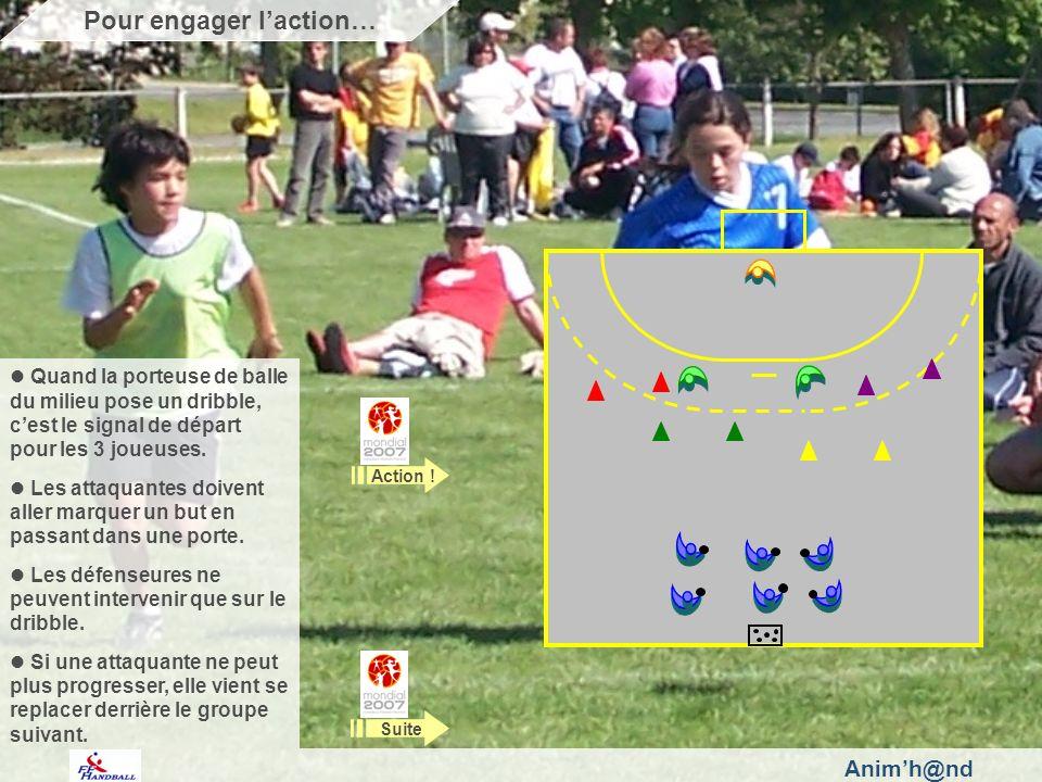 Animh@nd Quand la porteuse de balle du milieu pose un dribble, cest le signal de départ pour les 3 joueuses.