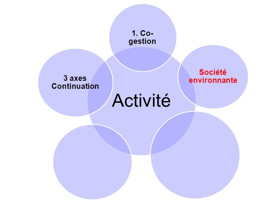 Activité 1. Co- gestion Société environnante 3 axes Continuation