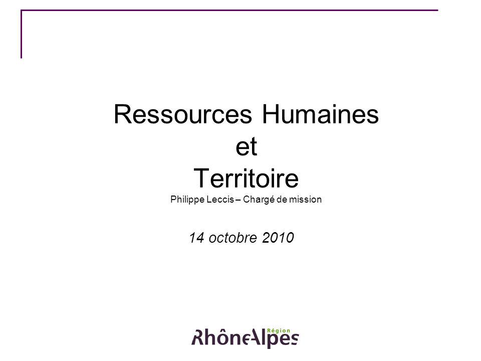 Ressources Humaines et Territoire Philippe Leccis – Chargé de mission 14 octobre 2010