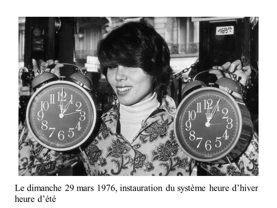 Le dimanche 29 mars 1976, instauration du système heure dhiver heure dété