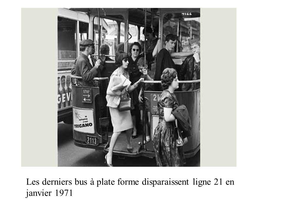 1971. Les derniers bus à plate forme disparaissent ligne 21 en janvier 1971