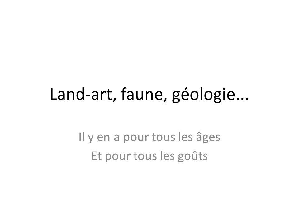 Land-art, faune, géologie... Il y en a pour tous les âges Et pour tous les goûts