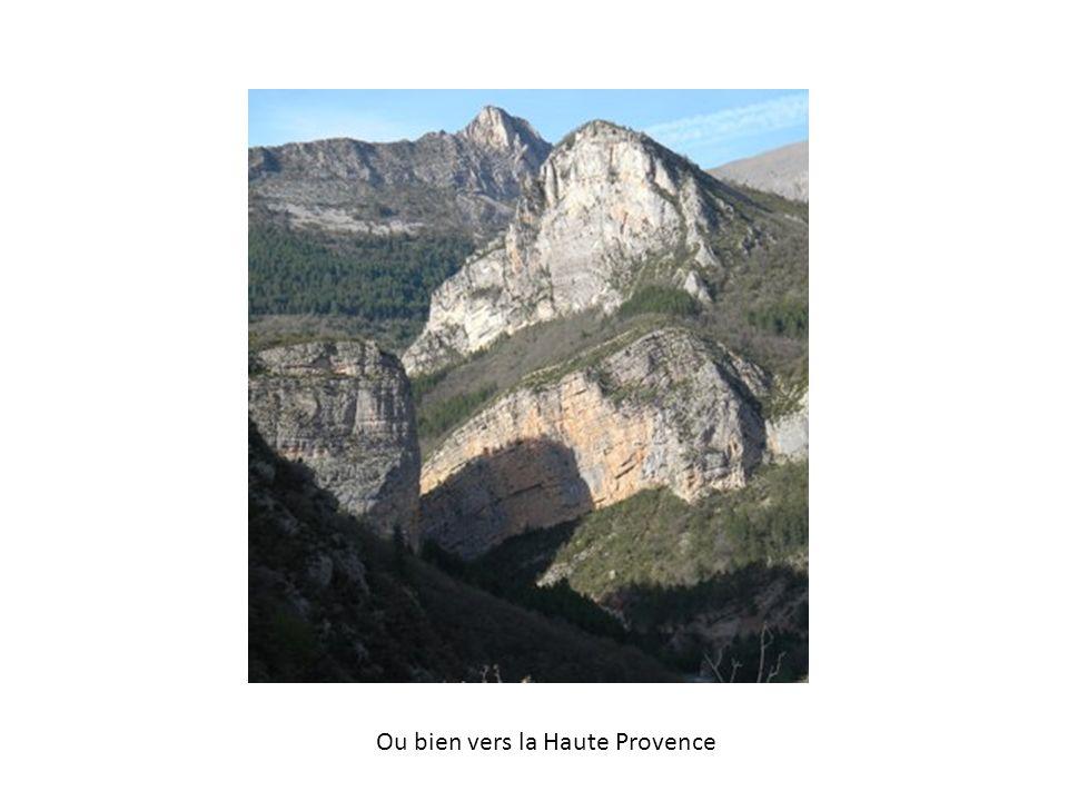 Ou bien vers la Haute Provence