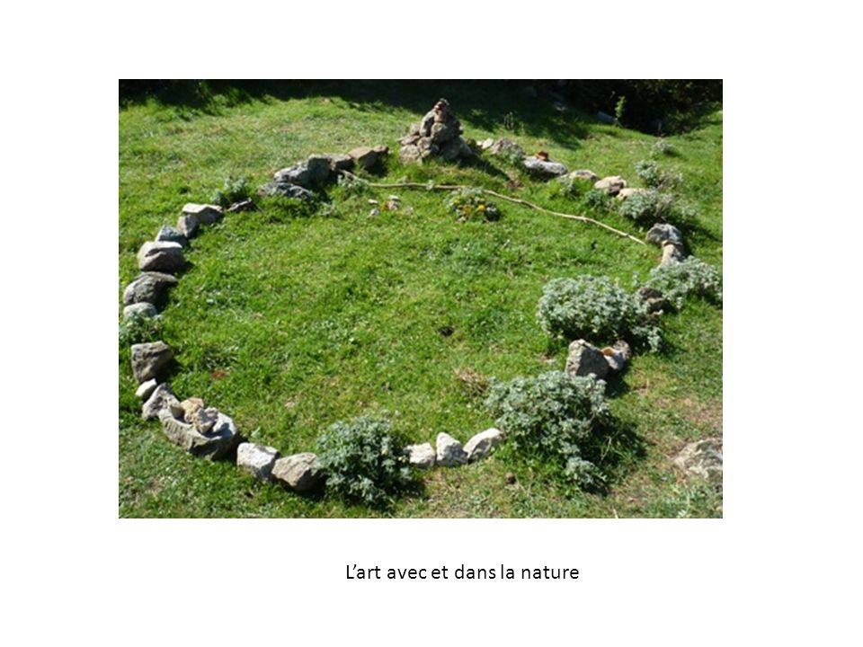 Lart avec et dans la nature