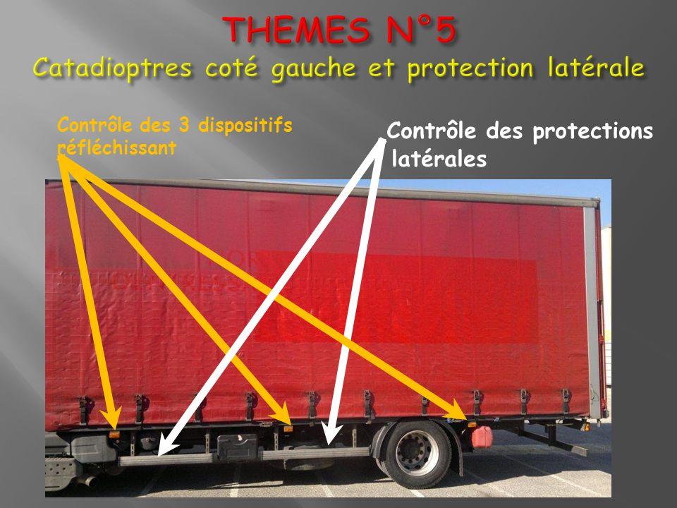 Contrôle des protections latérales Contrôle des 3 dispositifs réfléchissant