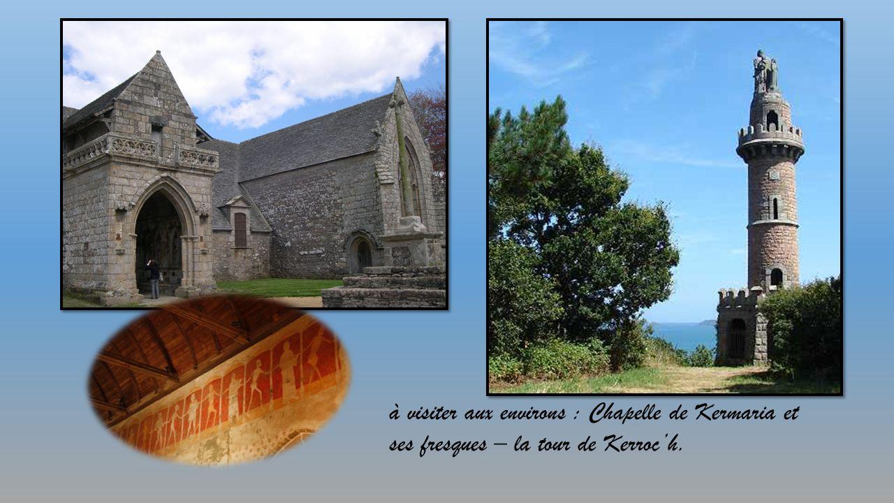 Abbaye maritime de Beaufort (créée en 1202) classée grand site avec le cloître, à proximité immédiate.