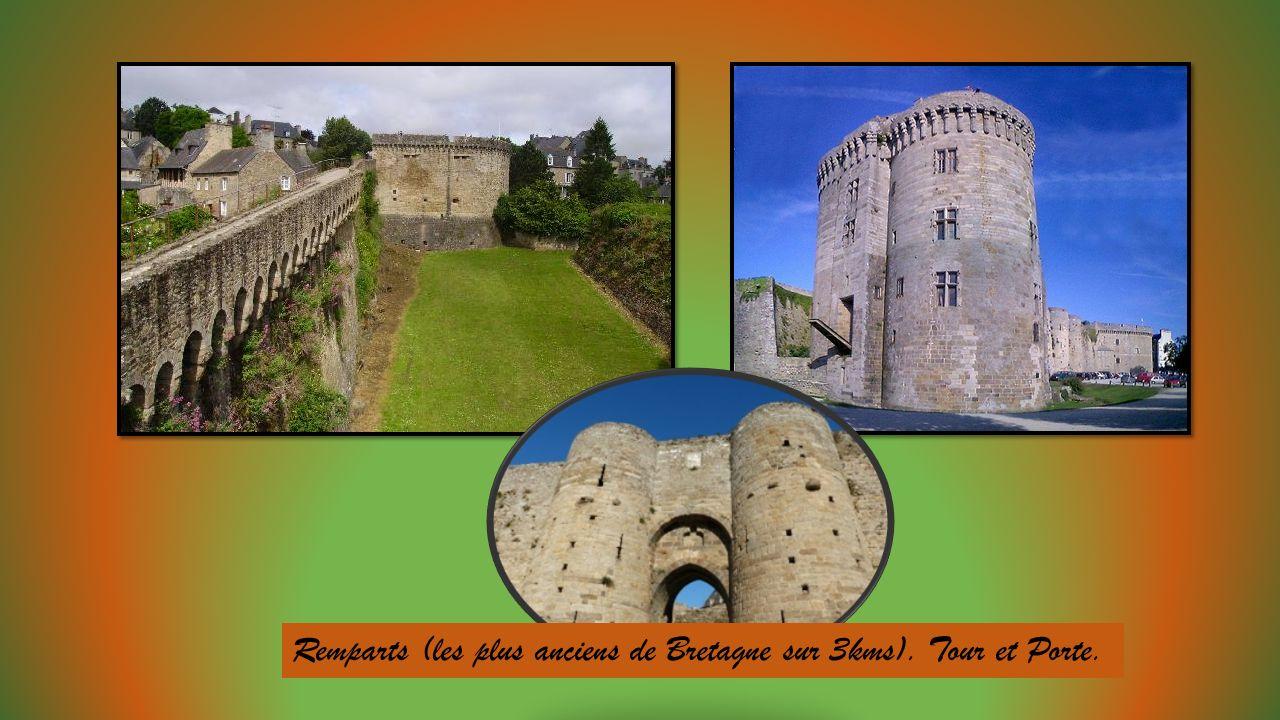 Au fond de lestuaire de la Rance, proche de la côte dEmeraude entre Dinard et Saint Malo, une cité médiévale aux remparts, basilique, beffroi et Châte