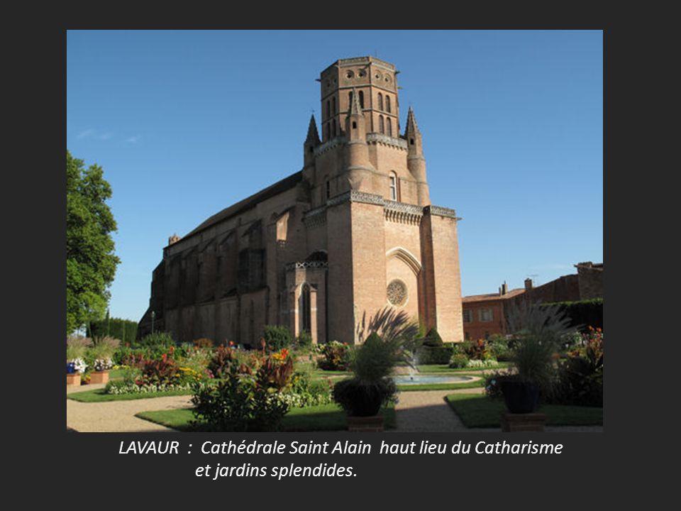 LAVAUR : Cathédrale Saint Alain haut lieu du Catharisme et jardins splendides.