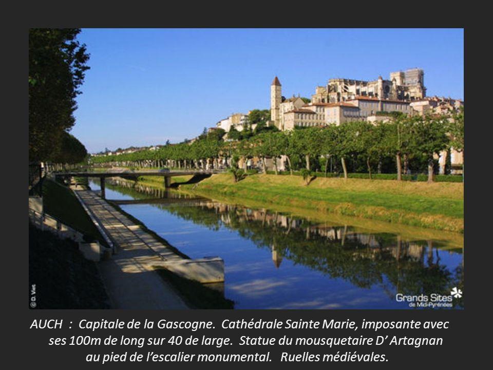 AUCH : Capitale de la Gascogne.