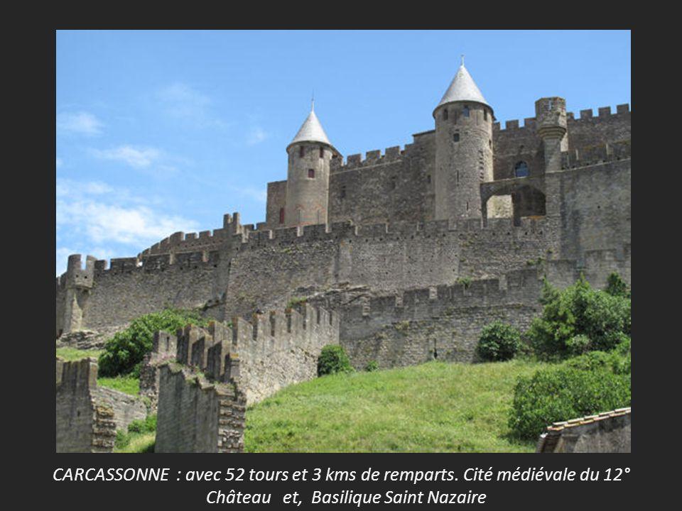 CARCASSONNE : avec 52 tours et 3 kms de remparts.