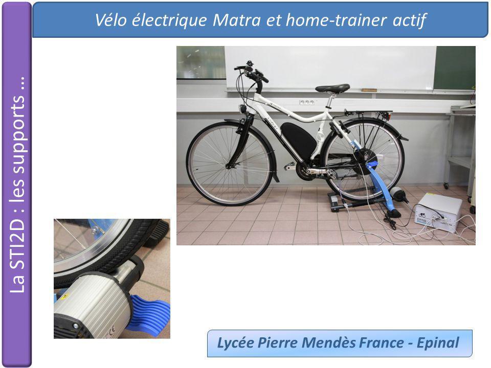 Vélo électrique Matra et home-trainer actif Lycée Pierre Mendès France - Epinal
