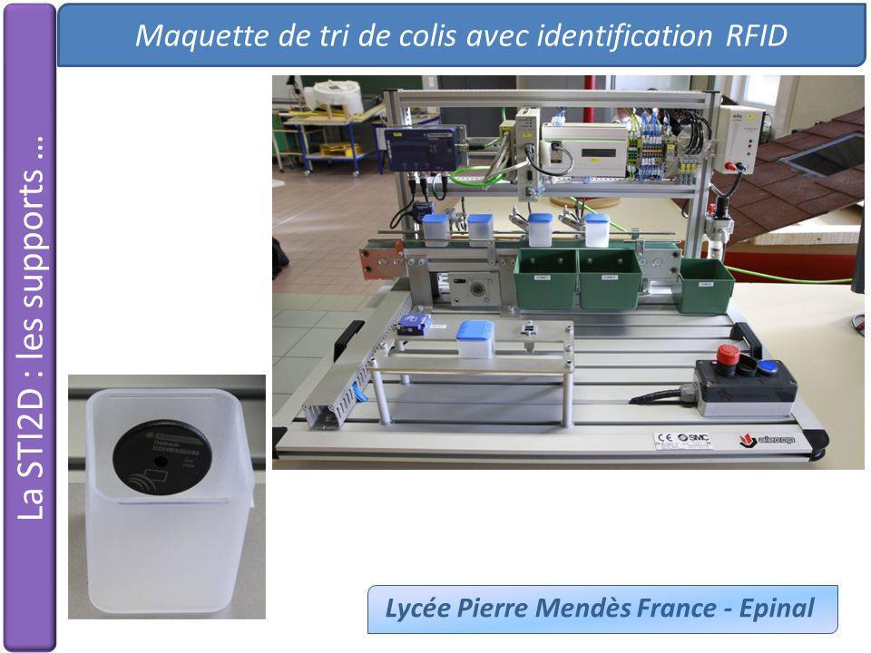 Maquette de tri de colis avec identification RFID Lycée Pierre Mendès France - Epinal La STI2D : les supports …