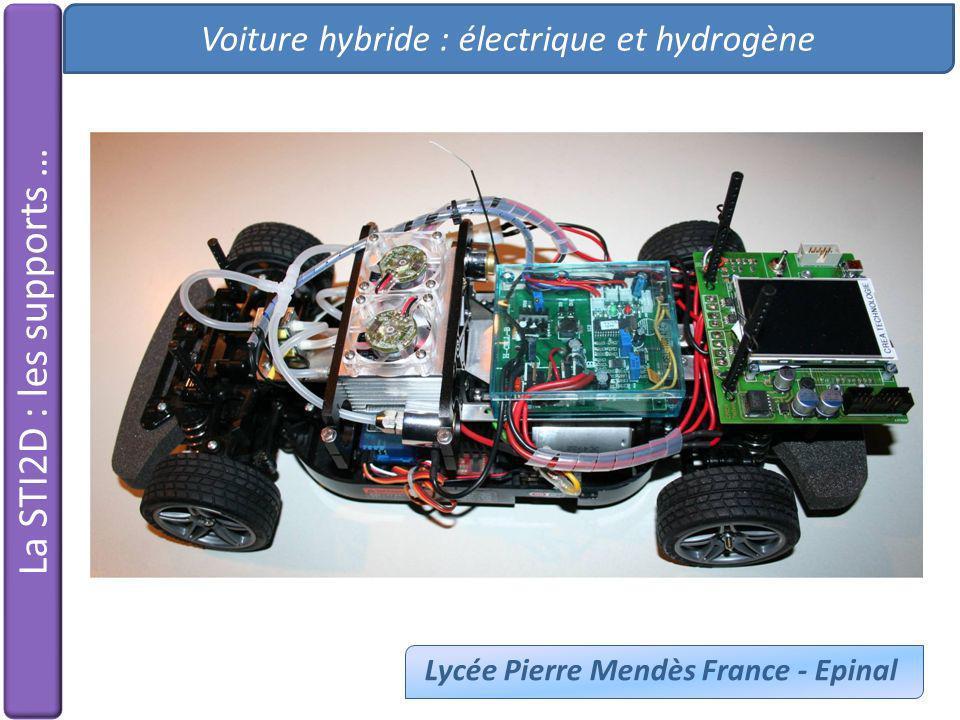 Voiture hybride : électrique et hydrogène Lycée Pierre Mendès France - Epinal La STI2D : les supports …