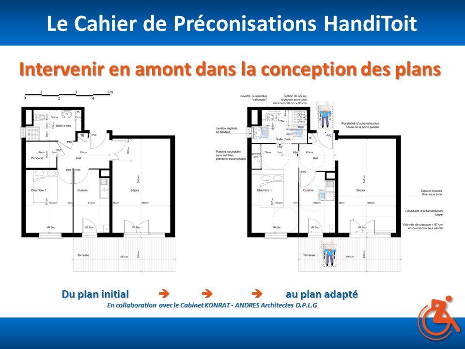 Intervenir en amont dans la conception des plans Le Cahier de Préconisations HandiToit Du plan initial au plan adapté En collaboration avec le Cabinet