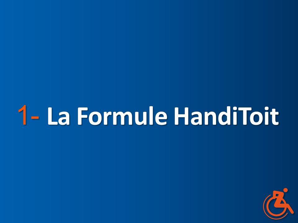 La « Formule HandiToit » La solution pour une autonomie retrouvée Un projet pilote associant au logement adapté une aide humaine 24h/24h