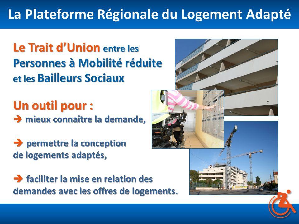 La Plateforme Régionale du Logement Adapté Un outil pour : mieux connaître la demande, permettre la conception de logements adaptés, faciliter la mise