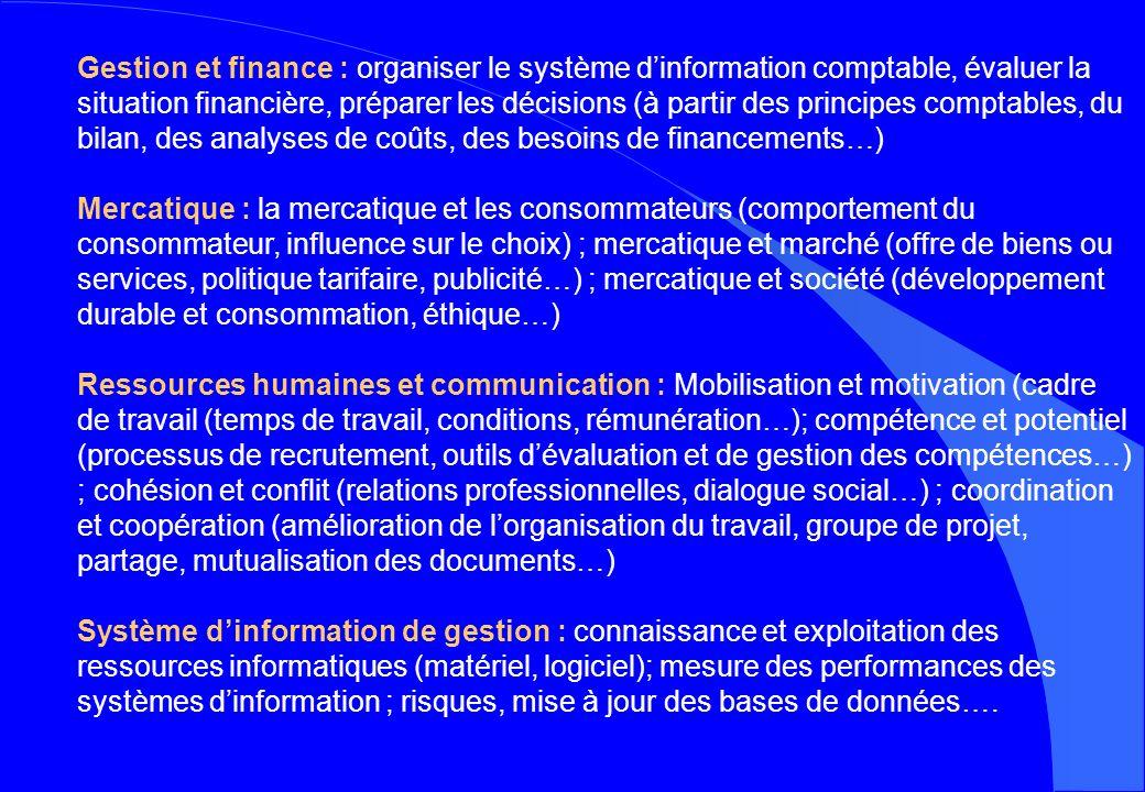 Gestion et finance : organiser le système dinformation comptable, évaluer la situation financière, préparer les décisions (à partir des principes comp
