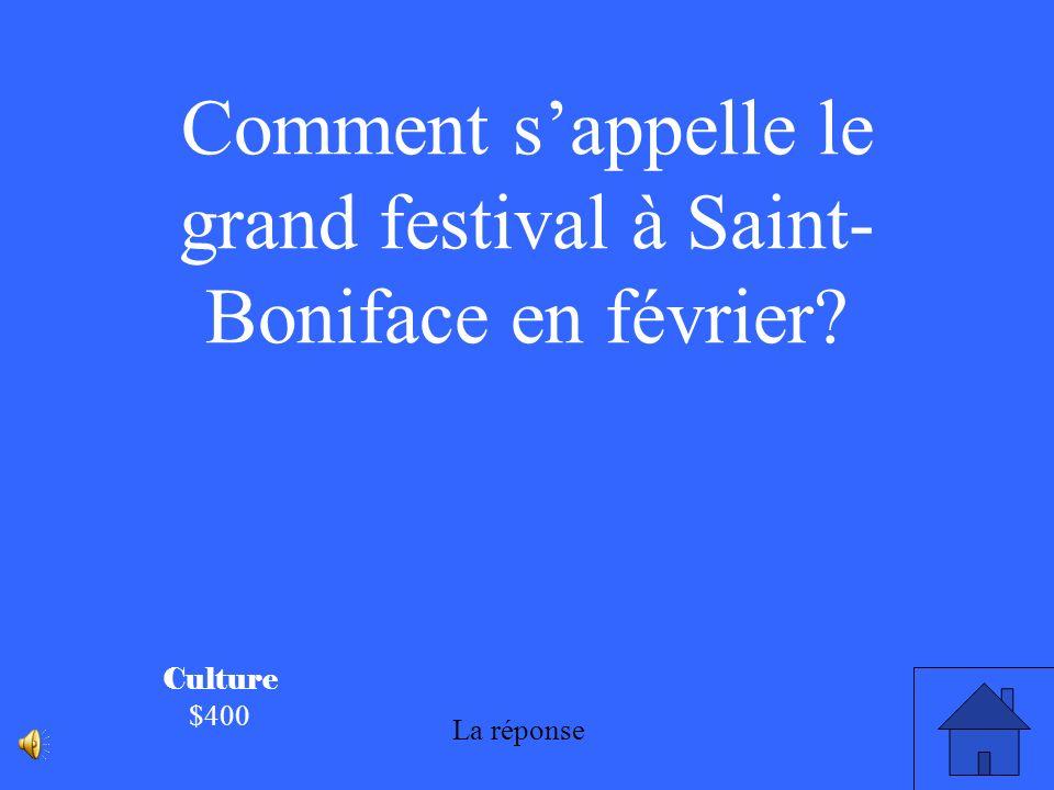 Culture $300 Beaucoup de personnes à Saint- Boniface parlent le français.