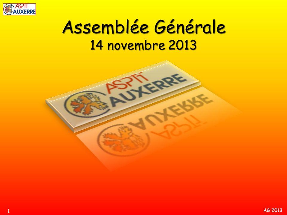 AG 2013 Résultats saison 2012-2013 (1 er sept.