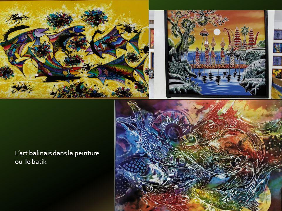 Lart balinais dans la peinture ou le batik