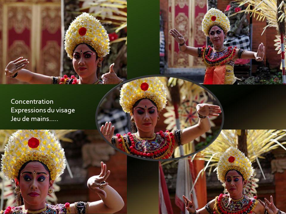 Jeu de gongs et lépopée de Ramayana avec le lion, le singe et le prince