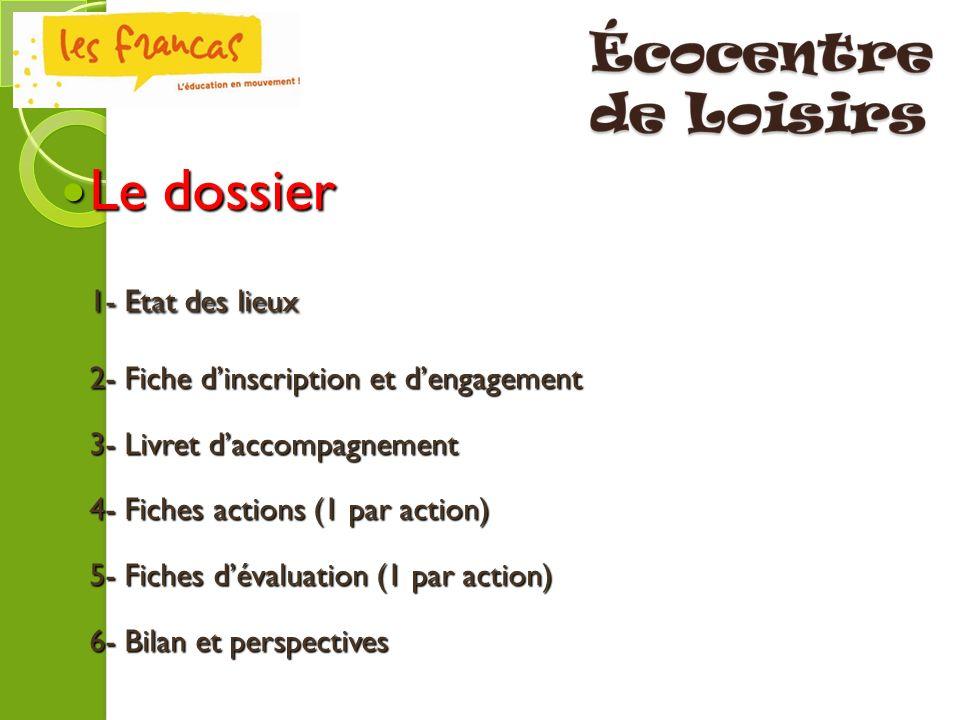 Pour entrer dans la démarche Ecocentre de Loisirs, nous vous invitons à : - Remplir le dossier en le téléchargeant sur le site des Francas du Gard.