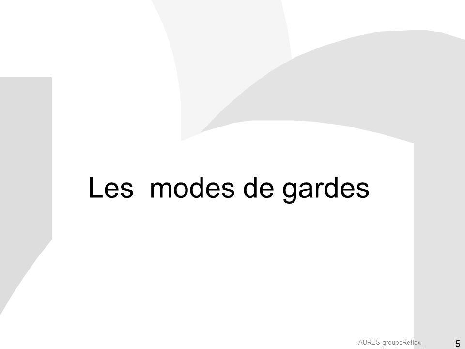 AURES groupeReflex_ 5 Les modes de gardes