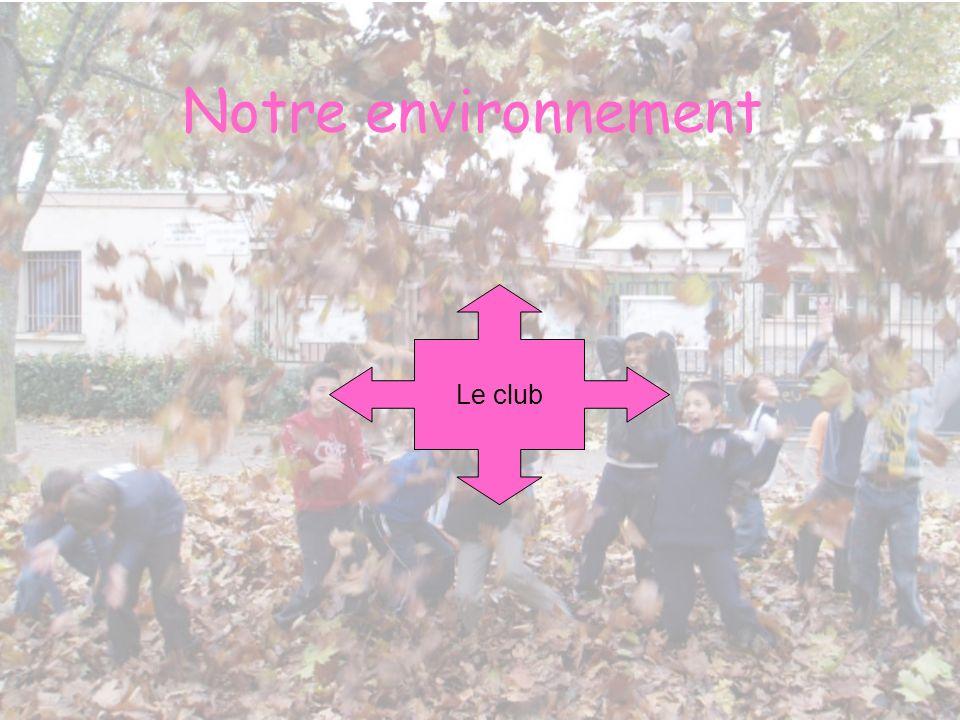 Notre environnement Le club