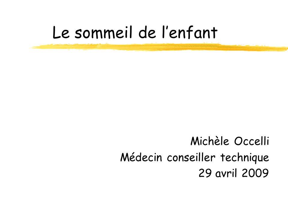 Le sommeil de lenfant Michèle Occelli Médecin conseiller technique 29 avril 2009