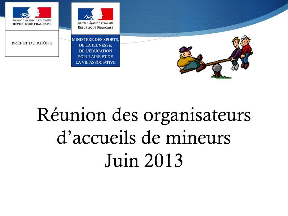 Réunion des organisateurs daccueils de mineurs Juin 2013