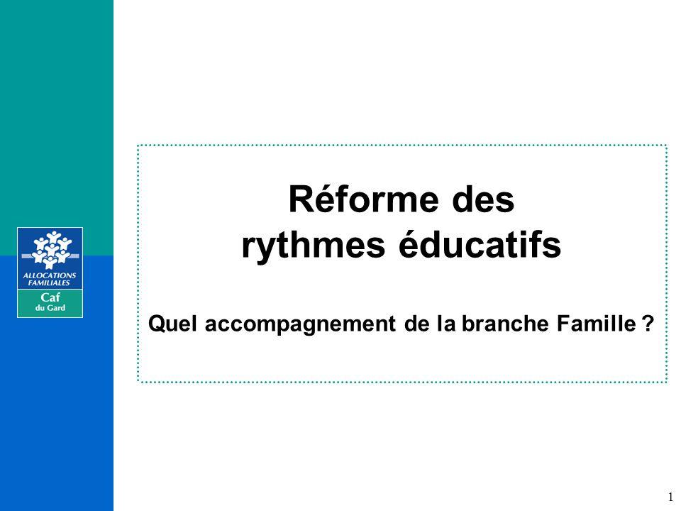 Réforme des rythmes éducatifs Quel accompagnement de la branche Famille 1
