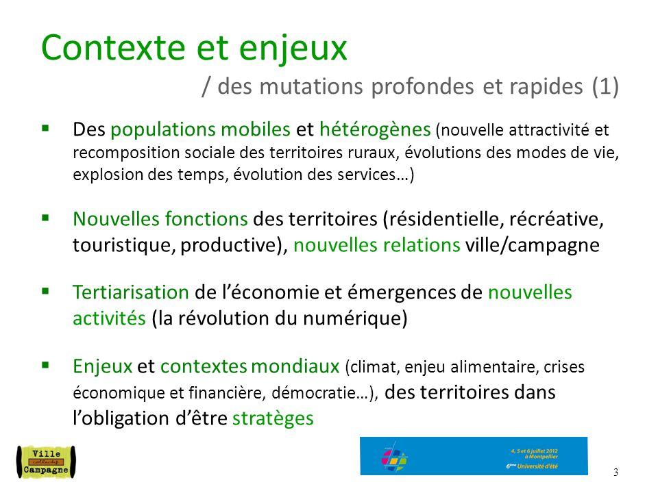 3 Des populations mobiles et hétérogènes (nouvelle attractivité et recomposition sociale des territoires ruraux, évolutions des modes de vie, explosio