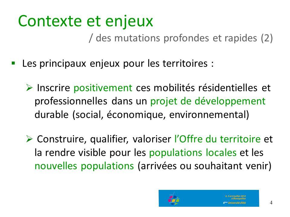 4 Les principaux enjeux pour les territoires : Inscrire positivement ces mobilités résidentielles et professionnelles dans un projet de développement