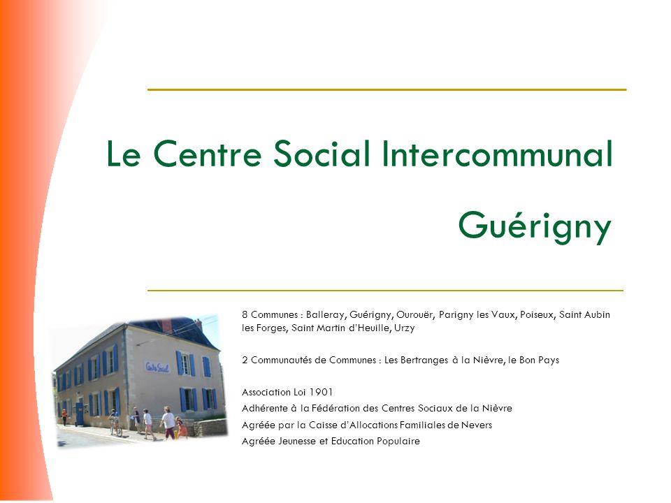 Le Centre Social Intercommunal Guérigny 8 Communes : Balleray, Guérigny, Ourouër, Parigny les Vaux, Poiseux, Saint Aubin les Forges, Saint Martin dHeu