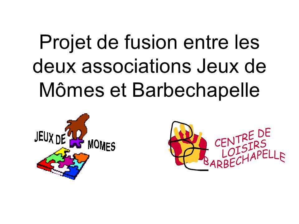 Projet de fusion entre les deux associations Jeux de Mômes et Barbechapelle