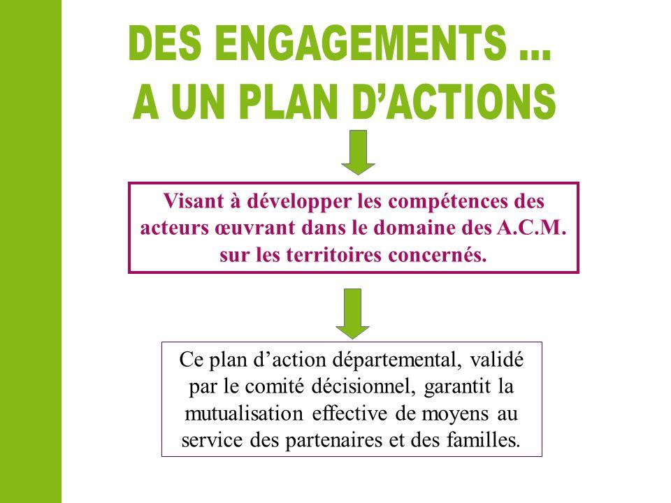 Ce plan daction départemental, validé par le comité décisionnel, garantit la mutualisation effective de moyens au service des partenaires et des famil