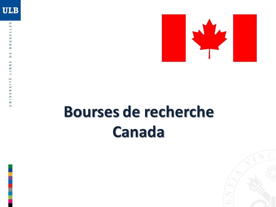 Bourses Vanier Bourses Vanier (1) « Bourses détudes supérieures du Canada Vanier » Objectif Objectif : attirer et retenir au Canada des doctorants de calibre international 167 167 nouvelles bourses chaque année 50 000 CAD Bourses de 3 ans (maximum) dune valeur annuelle de 50 000 CAD (env.
