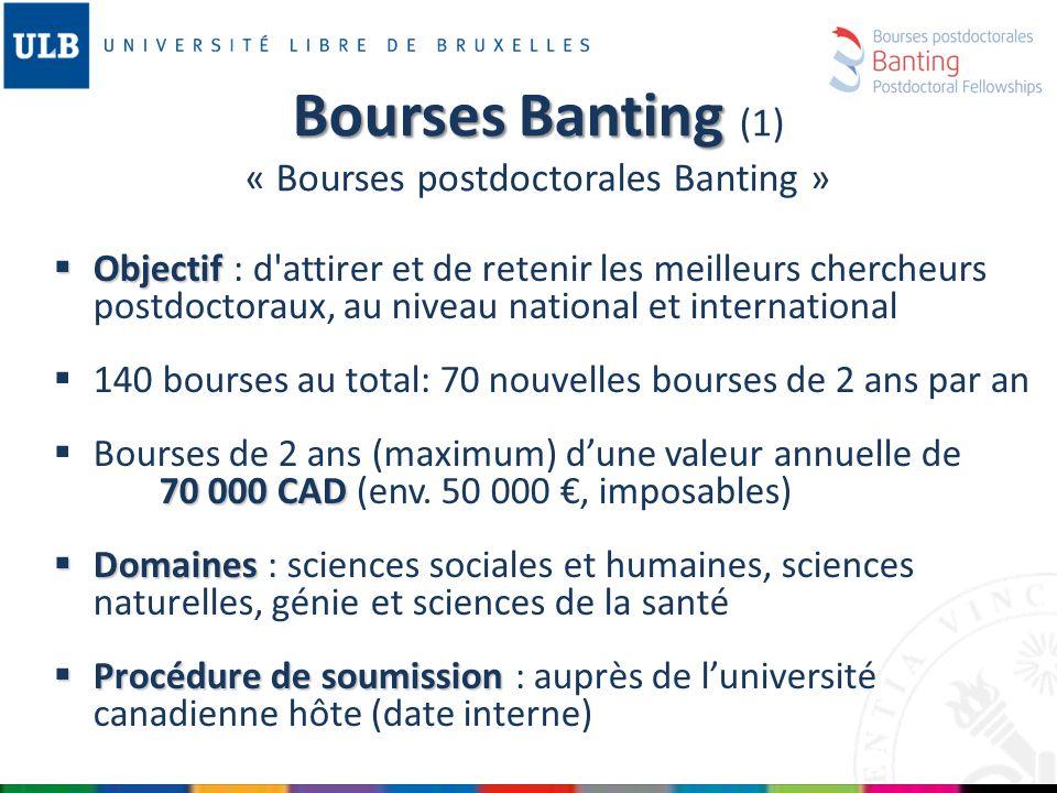 Ressources supplémentaires : Les centres de recherches qui ont des budgets internes pour des bourses de doctorat ou de postdoctorat.