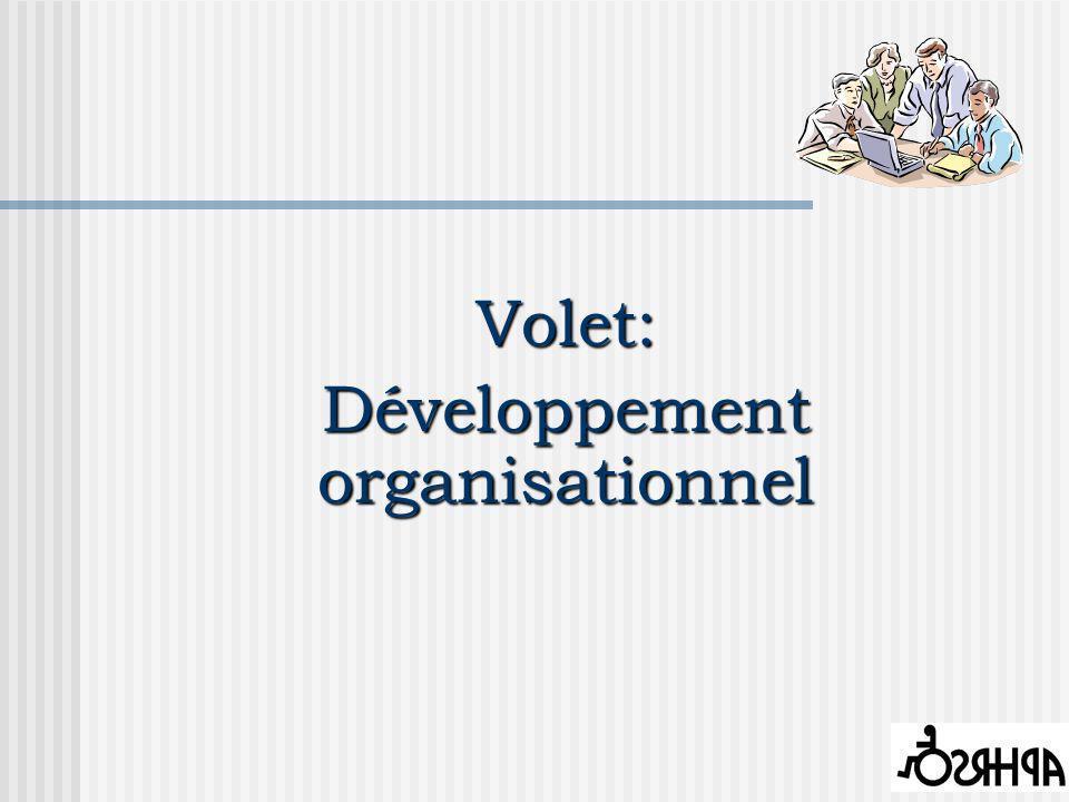 Volet: Développement organisationnel