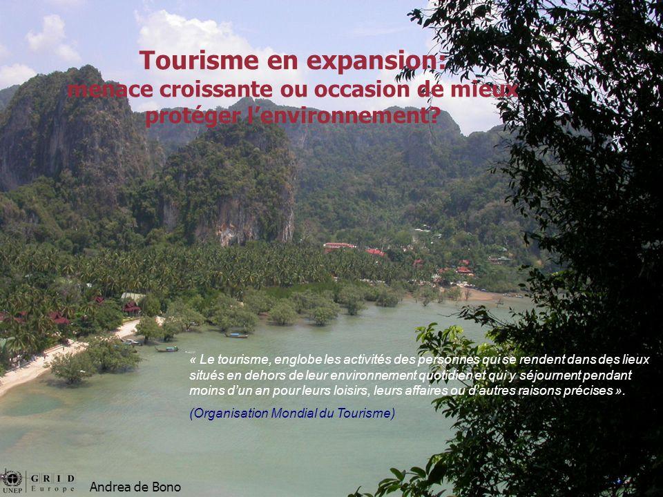 Un touriste produit en moyenne 180 litres d eaux usées par jour (AEE 2003).