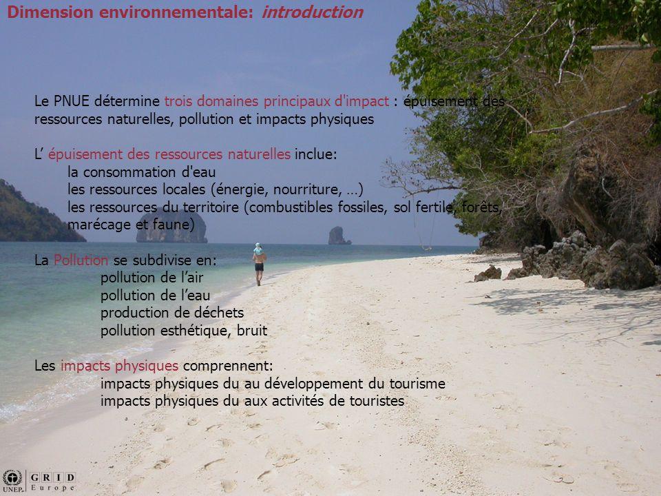 Dimension Environnementale: Impacts sur la biodiversité La biodiversité est essentielle pour le bien-être et pour le développement économique: on estime que 40% de l économie mondiale est basée sur les produits et les processus naturels (CI et PNUE 2003).