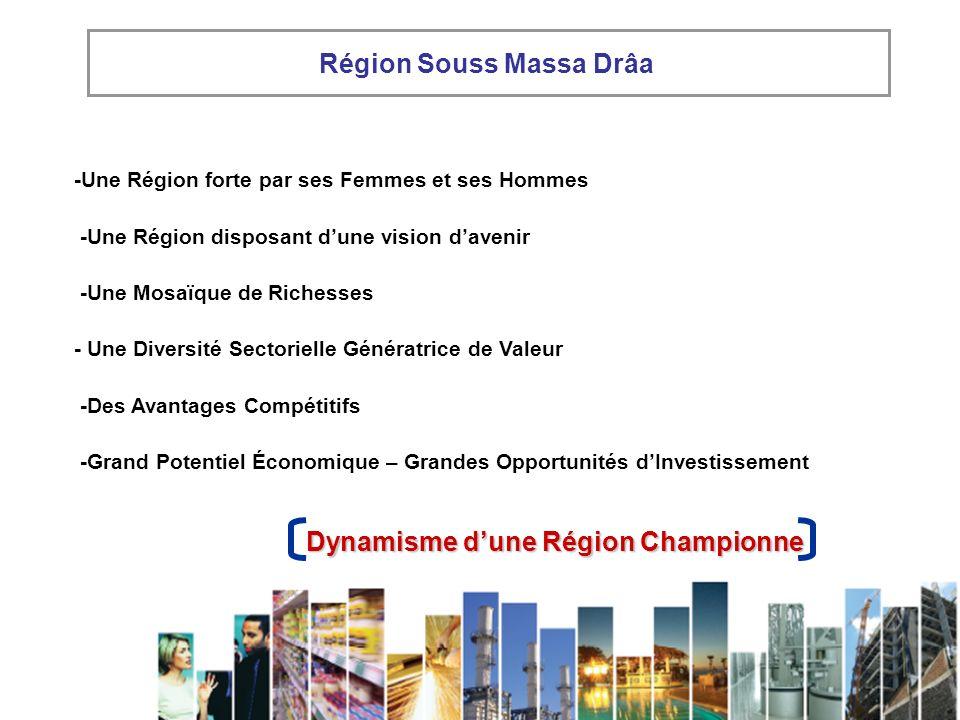 -Une Région forte par ses Femmes et ses Hommes -Une Région disposant dune vision davenir -Une Mosaïque de Richesses - Une Diversité Sectorielle Généra